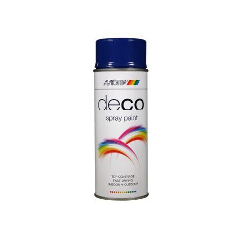 Peinture en spray MoTip Deco Colors bleu outremer haute brillance 400ml