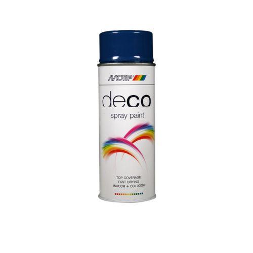 Peinture en spray MoTip Deco Colors noir foncé brillant 400 ml