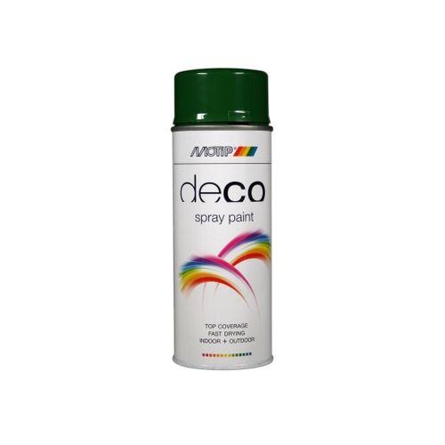 Peinture en spray MoTip CRAFTS vert feuillage brillant 400 ml