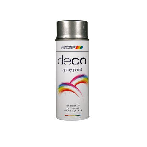 Peinture en spray MoTip Deco Colors gris brillant 400ml