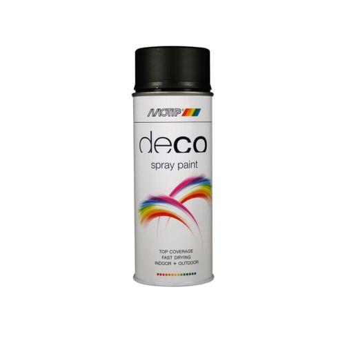 MoTip Deco Colors verf spuitbus mat diep zwart 400ml