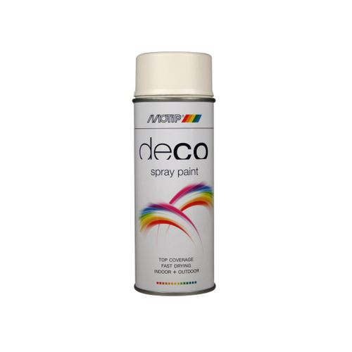 Peinture en spray MoTip Deco Colors blanc pur mat 400 ml