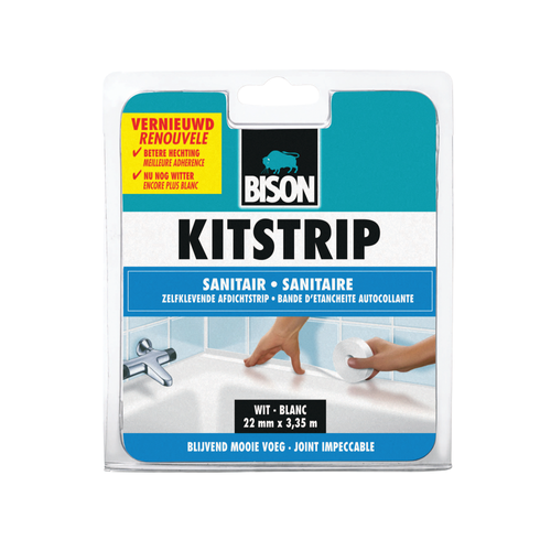 Bison kitstrip sanitair wit 22mm x 3,35m