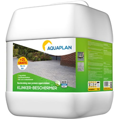 Aquaplan waterafstotend 'Klinker-beschermer' 10 L & 20 p/c gratis
