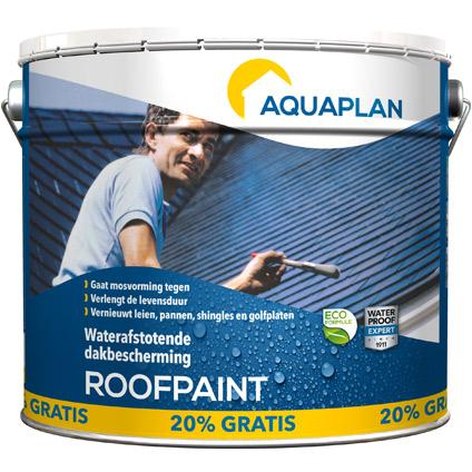 Roofpaint Aquaplan 10 L & 20 p/c gratuit