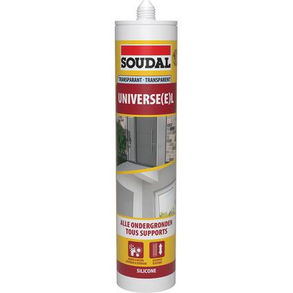 Soudal voegkit silicone 'Universele' transparent 300 ml