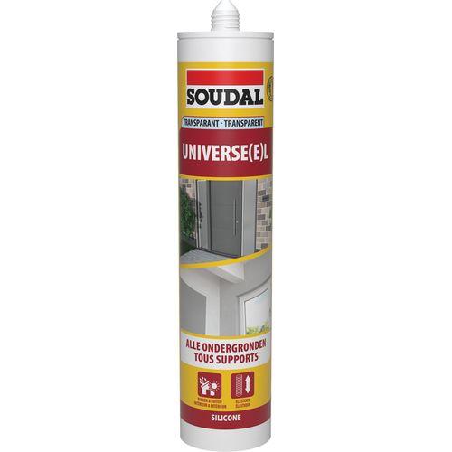 Mastic silicone Soudal 'Universel' transparent 300 ml