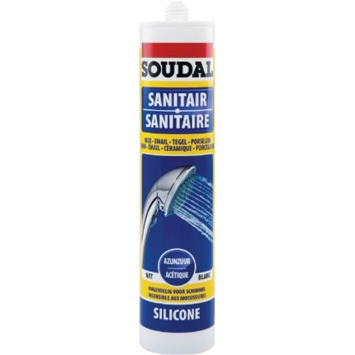 300ml Sanitaire silicone wit/blanc