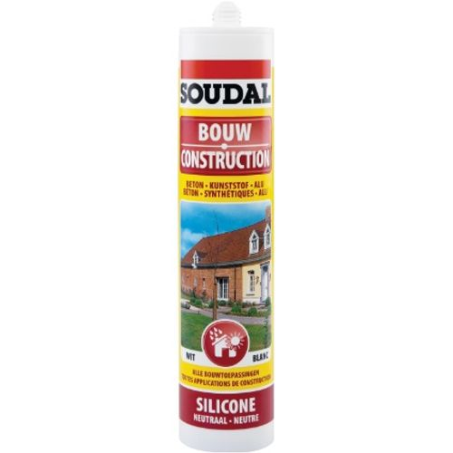 Silicone Construction Soudal transp 300ml