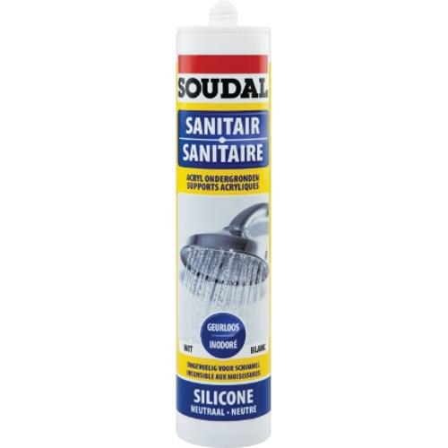 Soudal Neutrale sanitaire silicone transp 300ml
