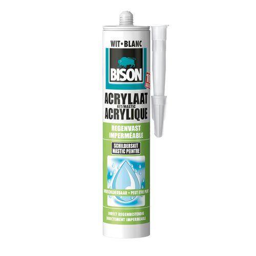 Bison acrylaatkit regenvast wit 300ml