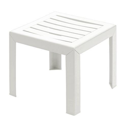 Table basse de jardin Grosfillex Miami PVC 40x40cm blanc