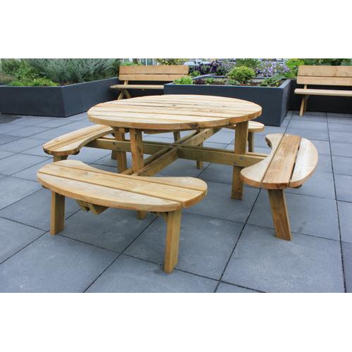 Solid picknicktafel Ø220cm