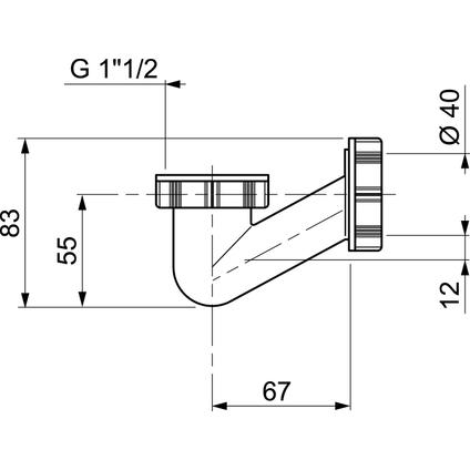 Wirquin badsifon V-vormig 40mm