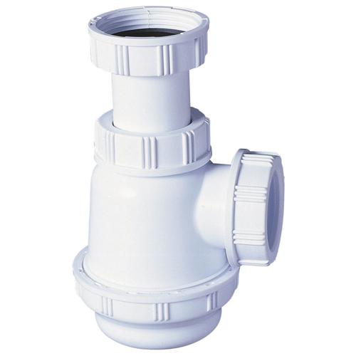 Siphon Wirquin 'SP3178' PVC pour lavabo ou bidet à culot court