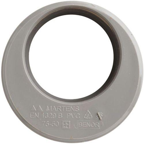 Martens verloop 50x75mm 1xlm grijs