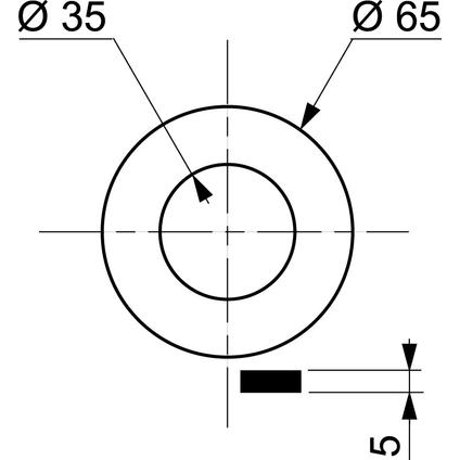 Wirquin klepdichting wc 35x65x5mm