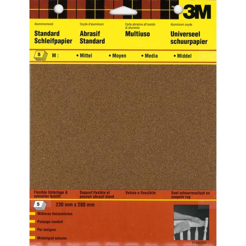 Feuilles abrasives 3M P180 - 5 pcs