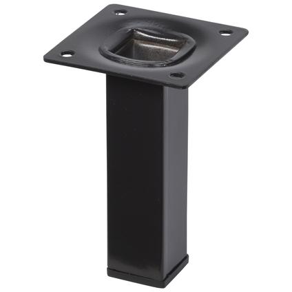 Pied de meuble métal carré noir 10  cm