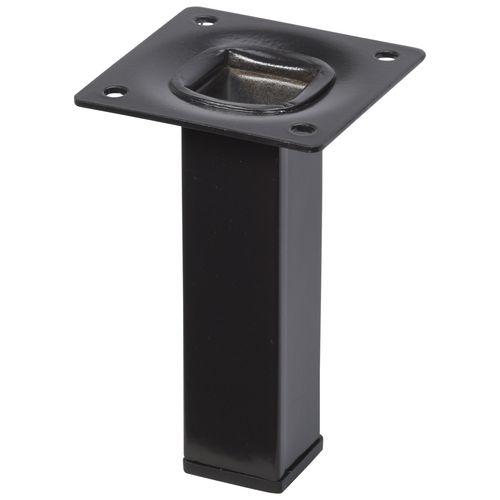 Duraline meubelpoot vierkant zwart 2,5x10cm