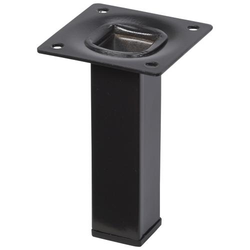 Meubelpoot metaal vierkant zwart 10 cm