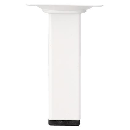 Pied de meuble métal carré blanc 10  cm