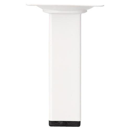 Meubelpoot metaal vierkant wit 10 cm