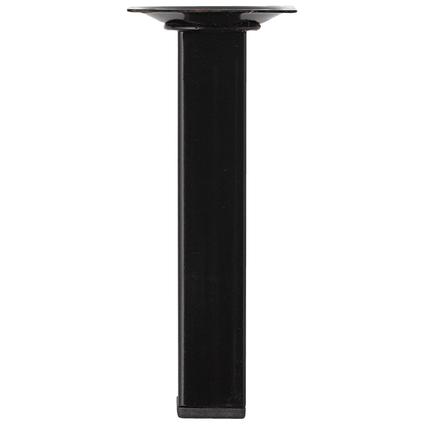 Pied de meuble métal carré noir 15  cm