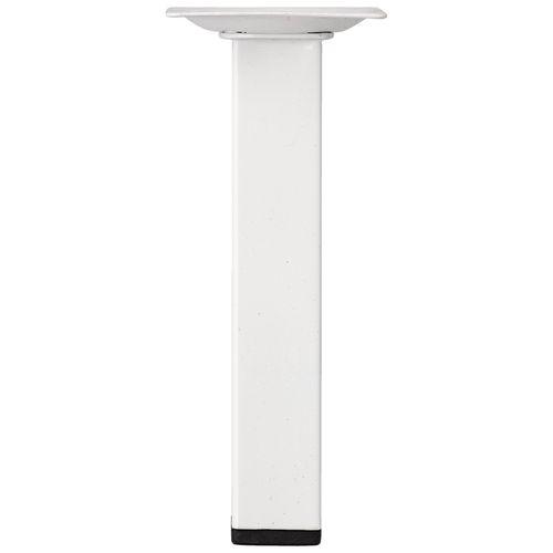 Duraline meubelpoot vierkant staal 2,5x2,5x15cm wit