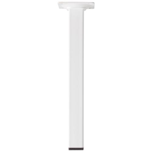 Meubelpoot metaal vierkant wit 25 cm
