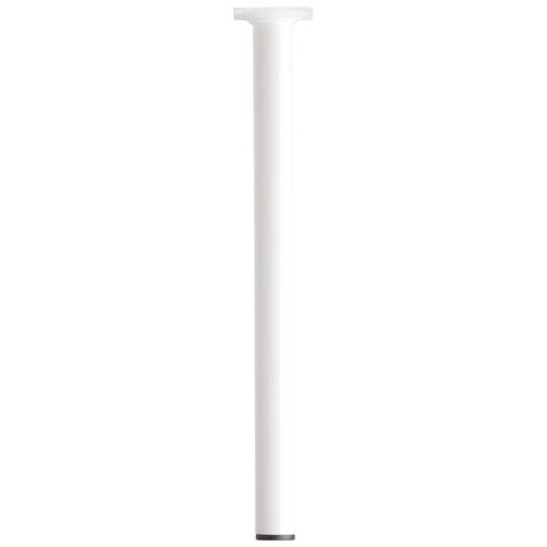 Meubelpoot metaal rond wit 40 cm