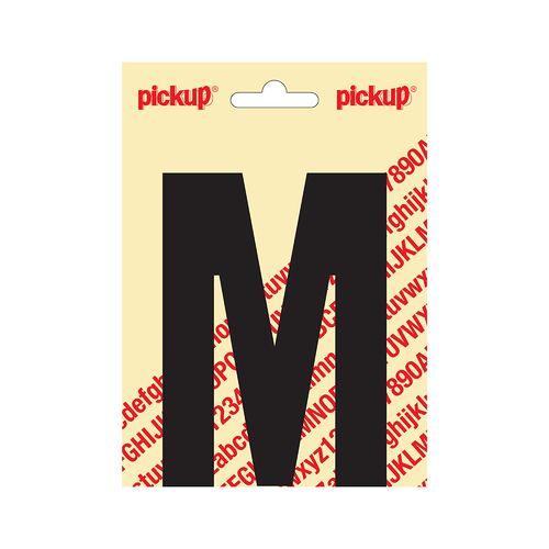 Pickup plakletter M zwart mat 120mm