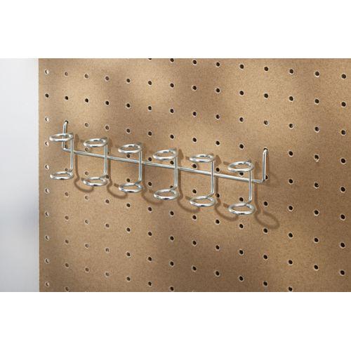 Barette porte outils Mottez pour porte perforé gris
