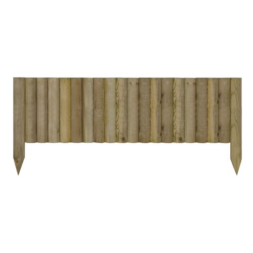 Bordure de jardin Oxford bois naturel 20X90cm