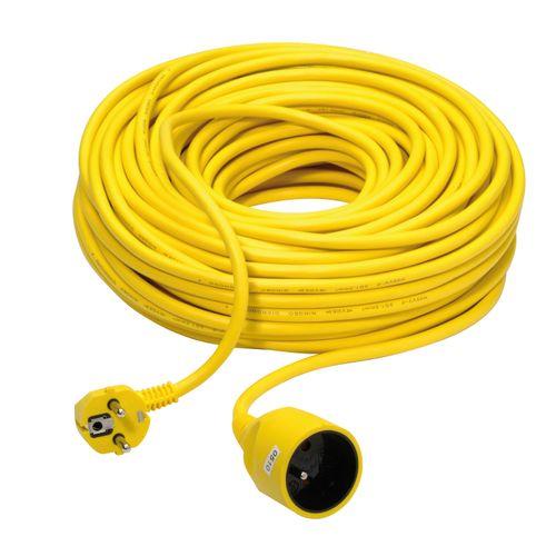 Rallonge Profile jaune en PVC 40m