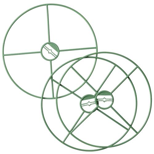 Tuteur plante Nature rond vert Ø 30 cm – 3 pcs