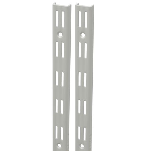Duraline F-rail dubbel wit 100cm