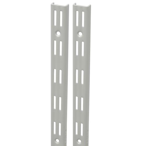 Duraline F-rail dubbel wit 100 cm