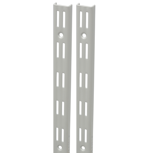 Duraline F-rail dubbel wit 200cm