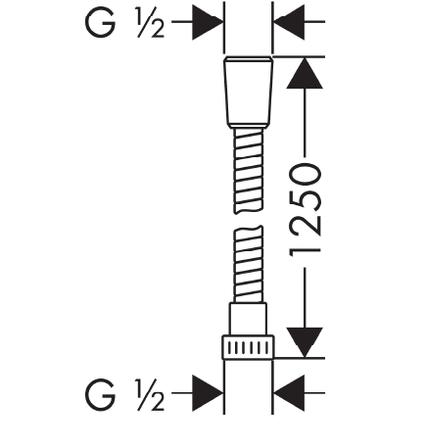 Hansgrohe doucheslang Mariflex 125cm chroom