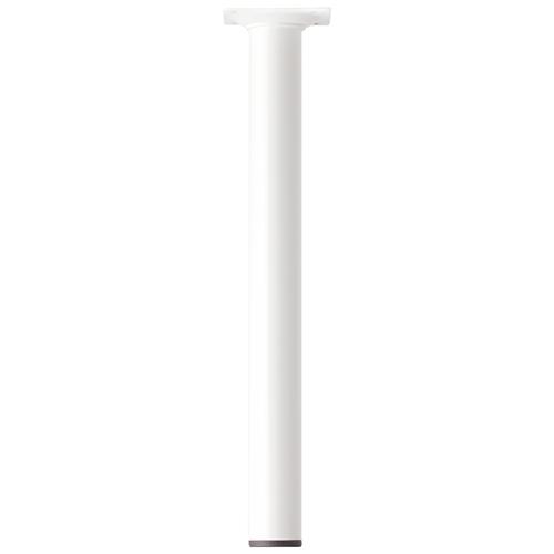 Meubelpoot metaal rond wit 30 cm