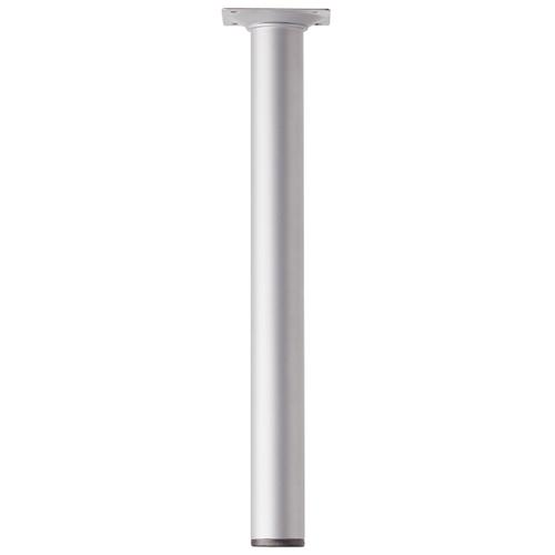 Meubelpoot metaal rond zilvergrijs 30 cm