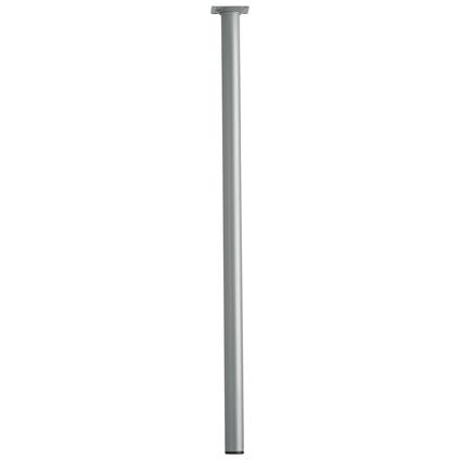 Pied de meuble métal rond argenté 70 cm