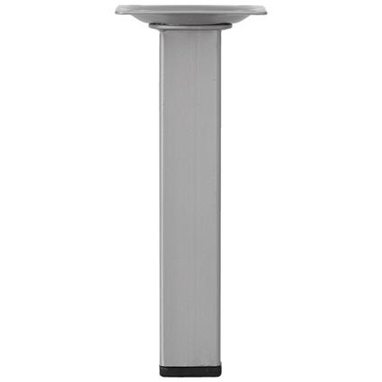 Pied de meuble métal carré argenté 15 cm