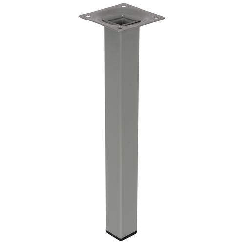 Duraline meubelpoot vierkant staal 2,5x2,5x25cm grijs
