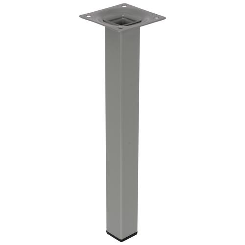 Meubelpoot metaal vierkant zilvergrijs 25 cm