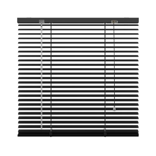 Decosol jaloezie horizontaal aluminium zwart 25mm 140x180cm