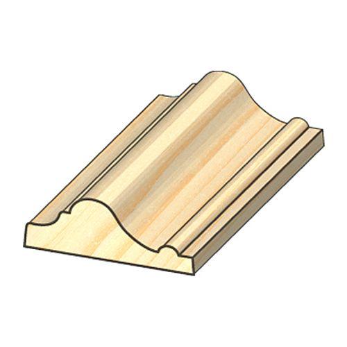 Moulure baguette JéWé pin 1,6x4,5x240cm