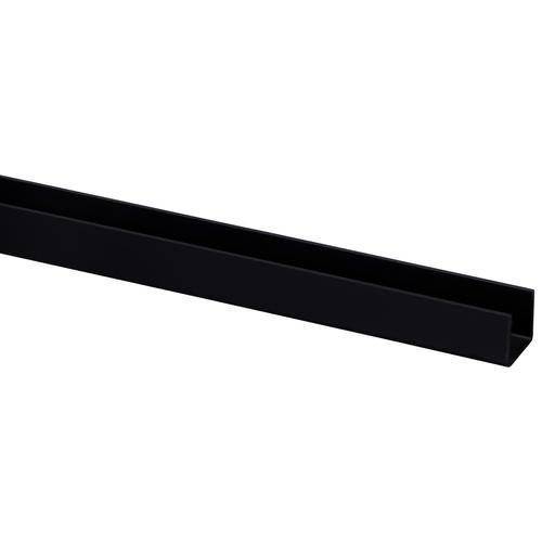 U-profiel kunststof plaat < 18 mm 18 x 21mm zwart 260cm