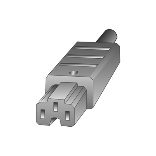 Profile toestelstekker CEE grijs